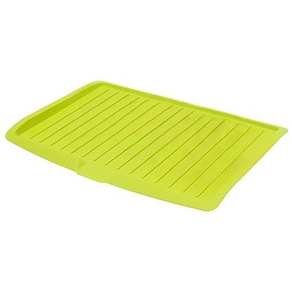 LUQUAN Dish Draining Board - Plastic Dish Drainer Drip Tray Plate Cutlery Rack Kitchen Sink Rack
