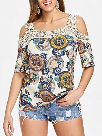 DRESSFO Blouses For Women, Multi Color S