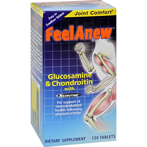 Natrol FeelAnew Glucosamine and Chondroitin with Natural Cox-2 Inhibitor - 120 T