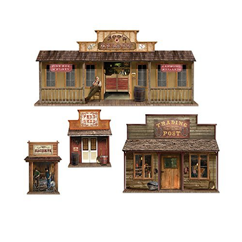 Beistle Home Decorative Seasonal Party Accessory Western Wild West Town Props Insta Theme 24