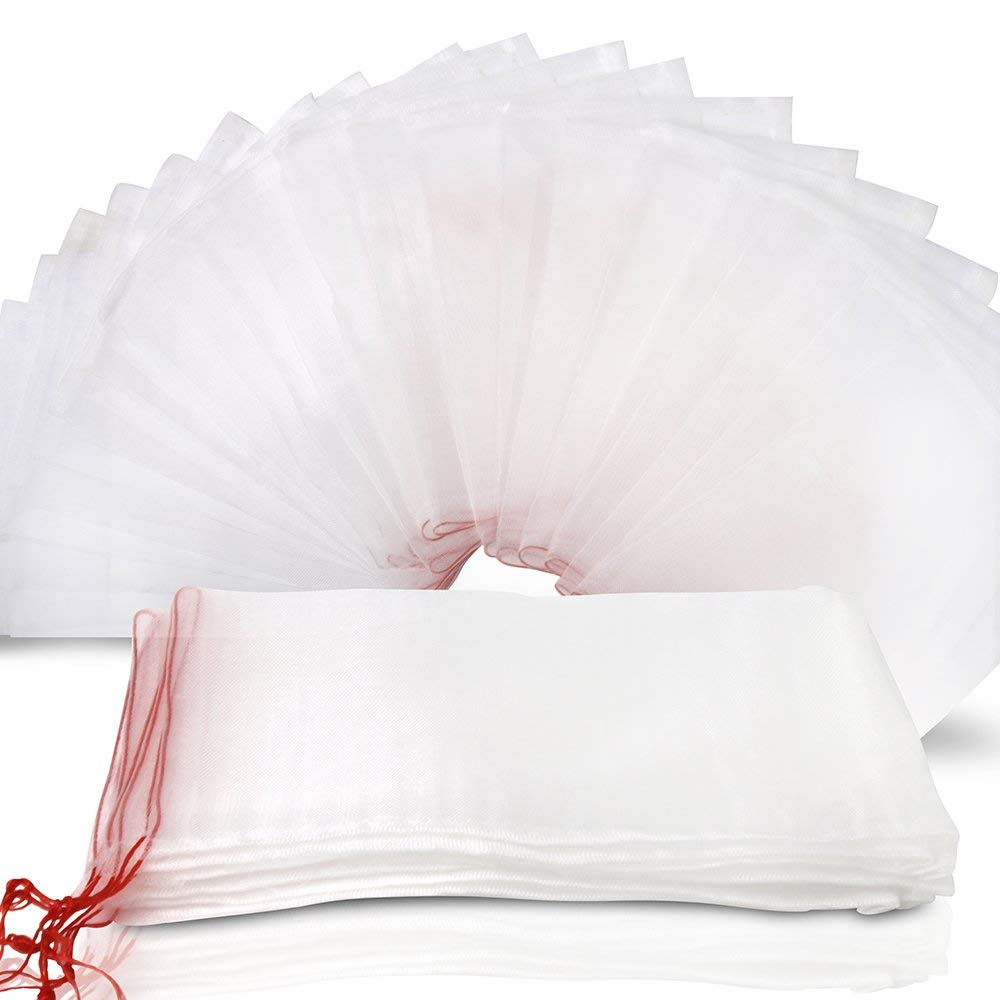 4.3x5.1//50Pcs LAVZAN Nylon Netting Protect Bags with Drawstring for Fruits Vegetables Protect Your Fruit from Birds Insects Squirrels