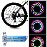 LED Bike Lights, Kirbaez Super Bright 16 LED Rechargeable Waterproof with Spoke Light for Wheels with 30 Modes, Powered By Battery, Best Bicycle Lights for Wheels, Cycling Accessories, Camping, Hiking