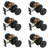 Dynasty Hardware SIE-82-12P Sierra Door Knob Passage Set, Aged Oil Rubbed Bronze, Contractor Pack (6 Pack)