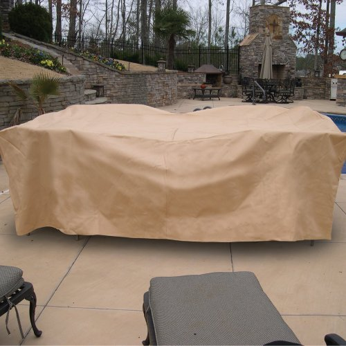 Hearth & Garden SF40244 Deluxe Rectangle Table and Chair Set Cover