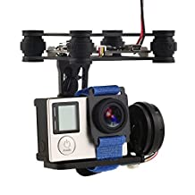 XCSOURCE 2-Axis Brushless Gimbal Camera Mount with Controller Motor RTF for GoPro 3/3+/4 DJI Phantom 1/2 Aerial Photography (Black) RC441
