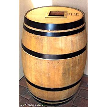 Amazon Com Wine Barrel Trashcan Receptacle With Rubber