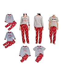Franhais Christmas Matching Family Pajamas Set Sleepwear Nightwear Homewear