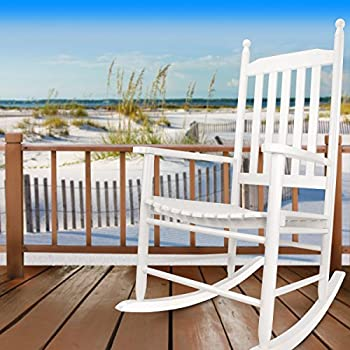 this item hyannis port all season outdoor wood rocking chair white - Wood Rocking Chair