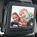 tablet tv headrest car mount - Pueri Car Headrest Mount Holder Strap Case for Portable DVD Players (10 inch)