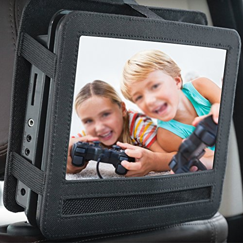 Pueri Car Headrest Mount Holder Strap Case Portable DVD Players (10 inch)