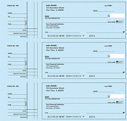 Deskset Personal Checks (300 Single Checks, Blue Safety)