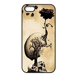 Skull The Unique Printing Art Custom Phone Case for Iphone 5,5S,diy cover case ygtg556979