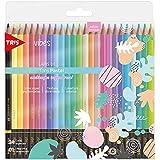 Lápis De Cor Vibes - Tons Pastel - 24 Cores + 1 Lápis 6B - Tris