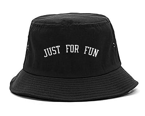Amazon.com  FASHIONISGREAT Just for Fun Bucket Hat Black  Clothing c1c1c9b702a