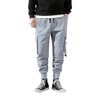 Honestyi Pantaloni da uomo Running Pantaloni Lunga Uomini