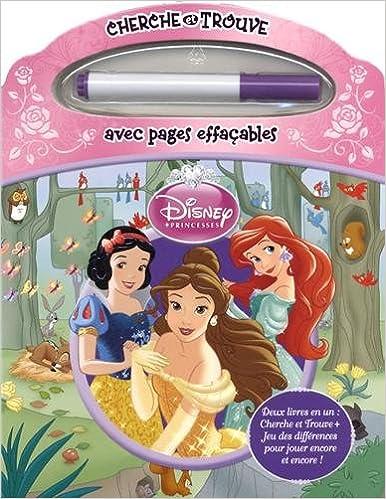 Amazon Fr Disney Princesses Cherche Et Trouve Avec Pages