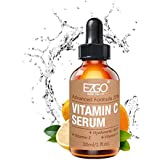 Vitamin C Serum- with Vitamin E and Hyaluronic Acid, Acne Scar Removal, Anti Aging, Anti Wrinkle Face Topical, Vitamin C Serum, 1 fl oz by EZGO