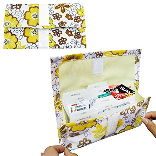 Evelots 4025 Expandable Grocery Coupon Organizer Binder & Coupon Holder, Floral Coupon Organizer