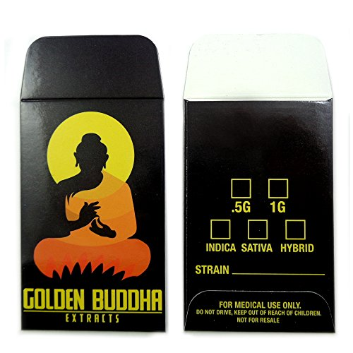 500 Golden Buddha Extracts Collective Supply Shatter Labels Concentrate Envelopes #085 by Shatter Labels