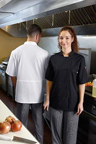 Five Star 18001 Unisex Short Sleeve Chef Jacket (Black, Medium) by Five Star (Image #2)
