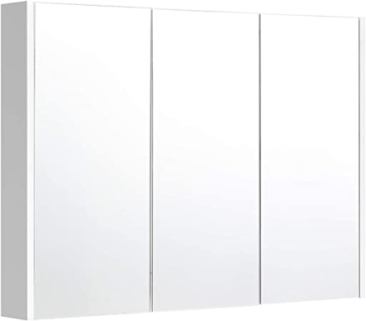 DREAMADE Meuble de Salle de Bain avec 3 Miroir,Armoire ...