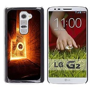 LECELL -- Funda protectora / Cubierta / Piel For LG G2 D800 D802 D802TA D803 VS980 LS980 -- Abstract Flames --