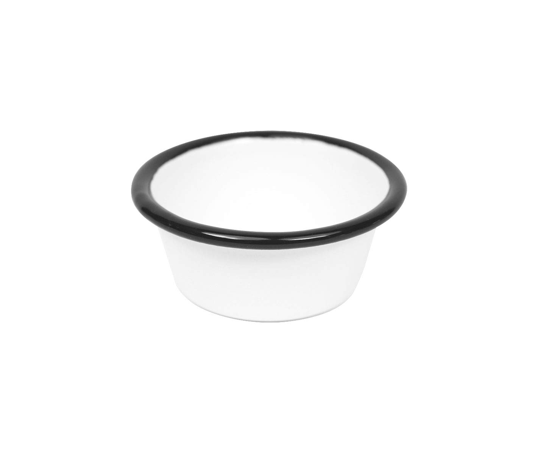 2 Oz Black Rim Enamelware Vintage Style Small Ramekin
