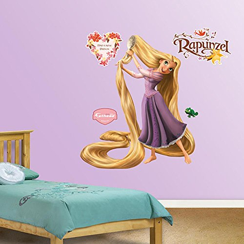FATHEAD Rapunzel Tangled-Life-Size Officially Licensed Disney Removable Wall Decal