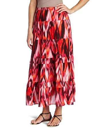 Jones New York Women's Petite Tiered Broomstick Skirt, Multi, 12P
