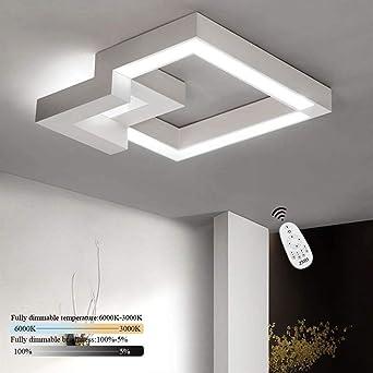 Charmant ZMH LED Deckenleuchte Wohnzimmer Modern Dimmbar Fernbedienung, Farbewechsel  Stufenlos Warmweiß/neutralweiß/kaltweiß Deckenlampe Flur Badlampe Wohnzimmer  ...