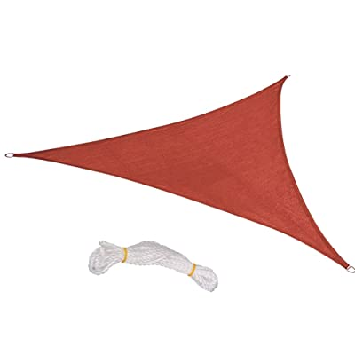 BELUPAI Triangle Sun Shade Sail, 8ft/ 10ft/ 12ft Sail Polyester Oxford Cloth Canopy Sun Awning for Patio Garden Outdoor Facility and Activities : Garden & Outdoor