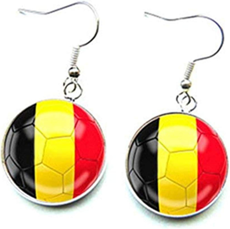 Pendientes de futbolín, aficionado belga, Copa del Mundo, Bélgica ...