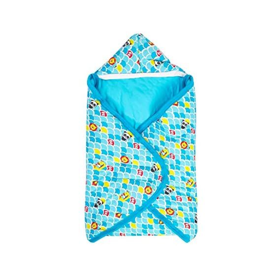 Fisher Price Blue Hooded Wrapper Pack of 1