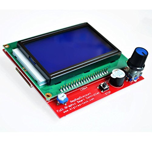 Ants-Store - 2sets/lot 3D printer smart controller RAMPS 1.4 LCD 12864 LCD control panel blue screen by Ants-Store (Image #2)