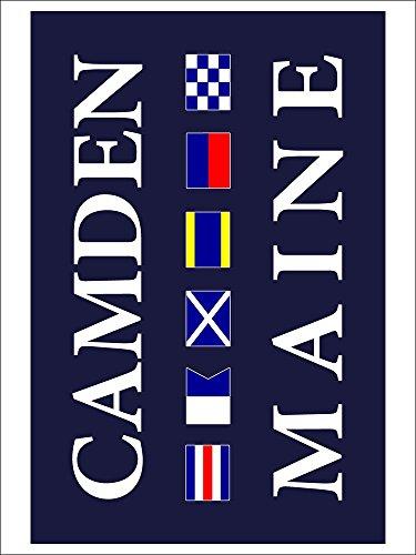Camden, Maine - Nautical Flags (9x12 Art Print Wall Decor Poster)