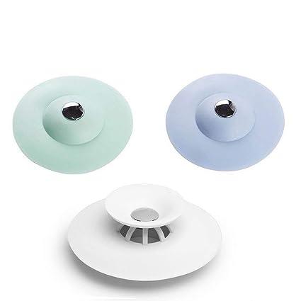 Attirant QIN JU 3x Shower Drain Stopper Silicone Hair Trap Hair Catcher Bathtub  Drain,2