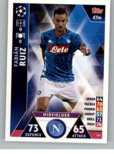 2018-19 Topps UEFA Champions League Match Attax #225 Fabian Ruiz SSC Napoli Official Futbol Soccer Card