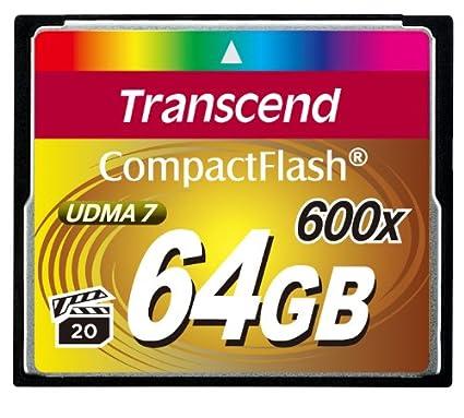 Transcend TS64GCF600 - Tarjeta de Memoria Compact Flash de 64 GB