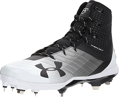 Under Armour Men's Highlight Yard DiamondTips Baseball Shoe, Black (011)/White, 14