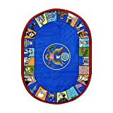 Joy Carpets Kid Essentials Early Childhood Oval Symbols of America Rug, Multicolored, 5'4'' x 7'8''