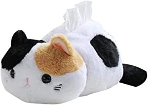 BusyPet (Large Size) Kawaii Cat Cute Tissue Box Cover/Cat Tissue Dispenser/Napkin Holder/Gifts for Cat Lovers/Home Decor