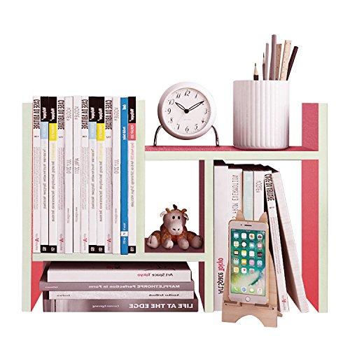 Hello Laura - Desk Shelves Office Supplies Organizer Storage - Double H Design - Free Standing Desktop Shelf | Pink (Desk Laura)
