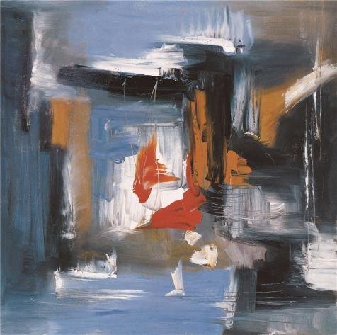 The Polyster Canvas Of Oil Painting 'Modern Abstract Painting' ,size: 18x18 Inch / 46x46 Cm ,this Best Price Art Decorative Prints On Canvas Is Fit For Dining Room Artwork And Home Decoration And Gifts (Best Airline Price Tracker)