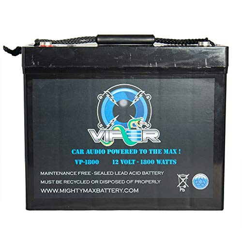 High Current Car Audio - Mighty Max Battery Viper VP-1800 12V 1800 Watt Car Audio High Current Power Cell Battery Brand Product