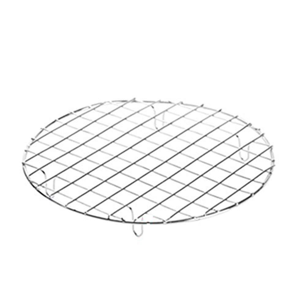 Guerbrilla New/Durable Stainless Steel Multi-Purpose Cross-Wire Cooling Rack,Wire Pan Grate, Baking Rack, Icing Rack, Round Shape, (Diameter:25cm)