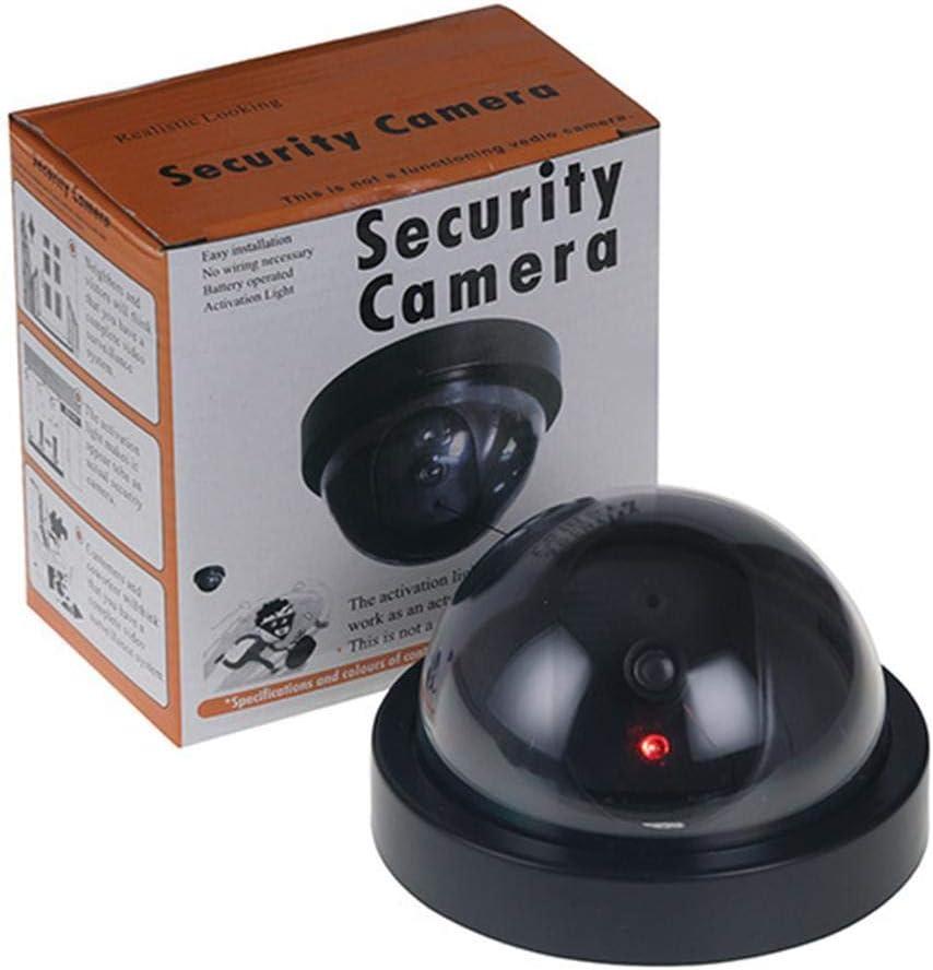 Black Dummy Fake Dummy Simulation Dome Camera Flashing Red LED Warning Blinking Light Security Camera