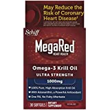 MegaRed 1000mg Ultra Strength Omega 3 Krill Oil-100% Pure Antarctic Krill Oil-Optimal Combination of Omega 3 Fatty Acids-1000mg/Softgel, 30 Softgels