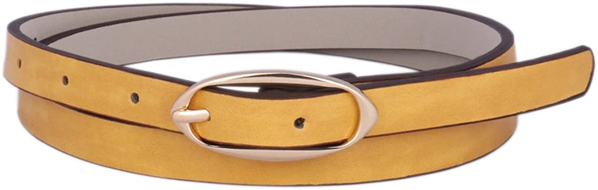Day of Saturn Womens Belt Skinny buckle Simple Solid color Waist Belts