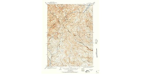 Kirwin Wyoming Map.Amazon Com Wyoming Maps 1904 Kirwin Wy Usgs Historical