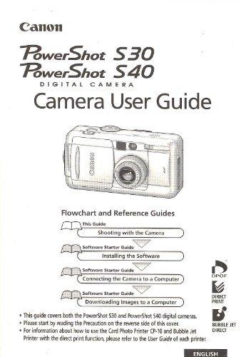 Canon PowerShot S30/S40 Digital Camera Original User Guide / Instruction Manual